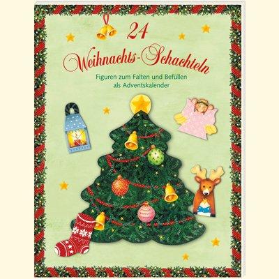 24 Weihnachts-Schachteln: Figuren zum Falten und Befüllen als Adventskalender