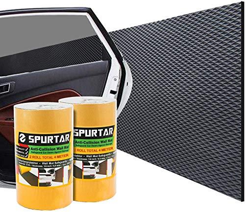 Spurtar Protection Mural Garage Autoadhésive - Idéal pour Protéger Vos Portières de Voitures, 2 Rouleaux de 200 x 20 cm, 6 mm épaisseur - Total 4 mètres