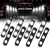 Truck Bed Lights, AAIWA LED Rock Light for Truck Pickup Bed, 24 LEDs Off Road Under Car, Side Marker LED Rock Lighting Kit White - 8 PCS