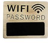 Home Collection Hogar Oficina Tienda Muebles Decoración Interiores Accesorios Placa de Madera para la Contraseña Conexión a Internet WiFi