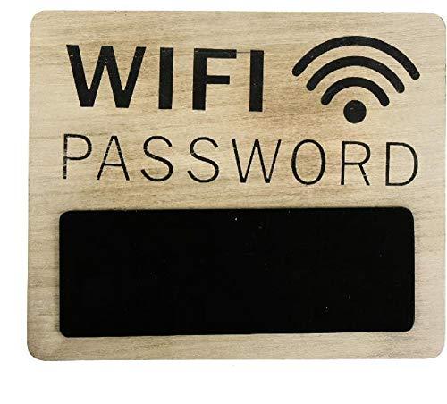 Home Collection Casa Ufficio Negozio Arredamento Decorazione Interni Accessori Targa in Legno per Password Connessione Internet WiFi