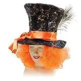 Cappello e capelli da Cappellaio matto. Taglia unica. Accessorio perfetto per un costume. Cappello e capelli inclusi.