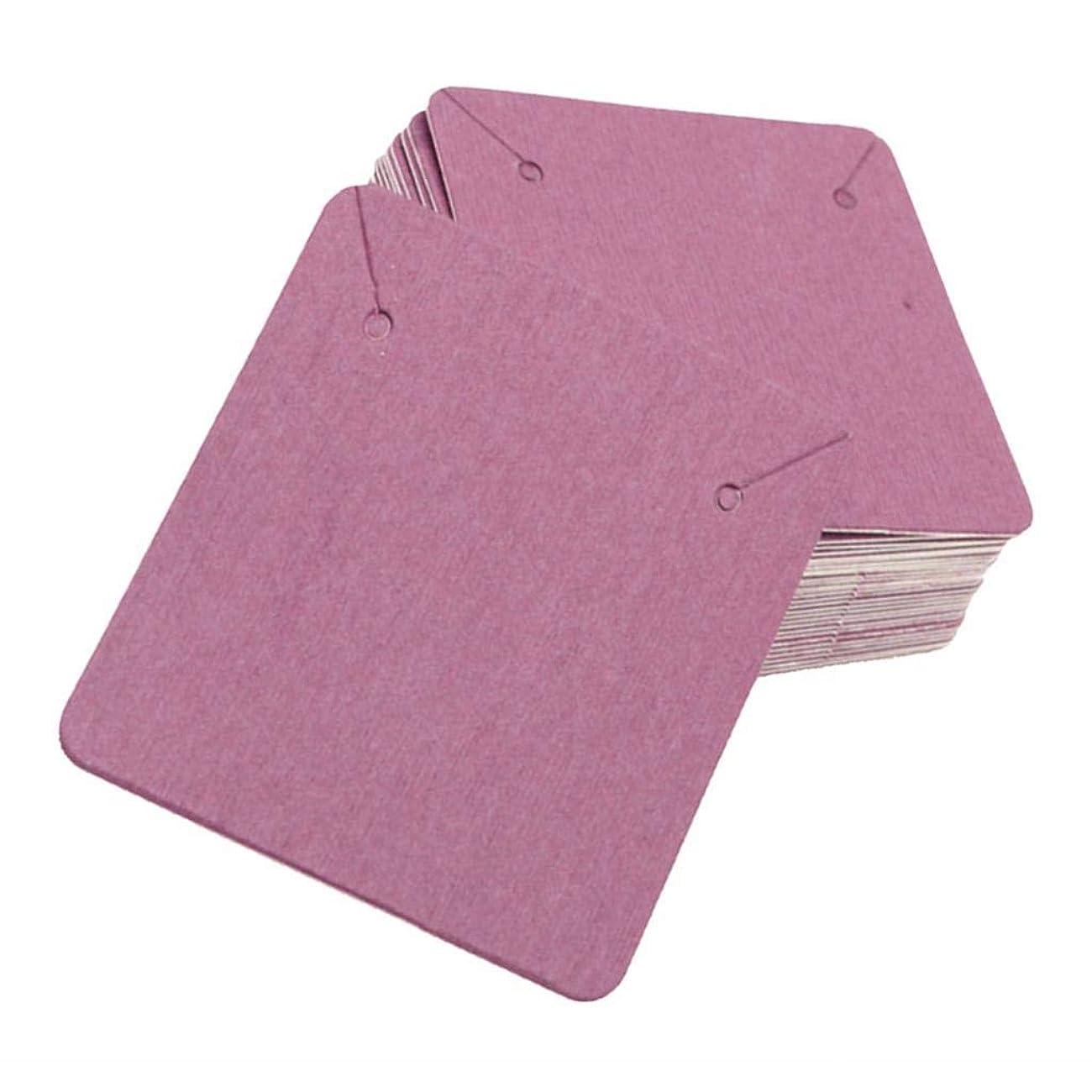 ゴミサイズKESOTO アクセサリー 台紙 ピアス/イヤリング用 100枚セット 多彩ペーパー 6色選択 - パープル