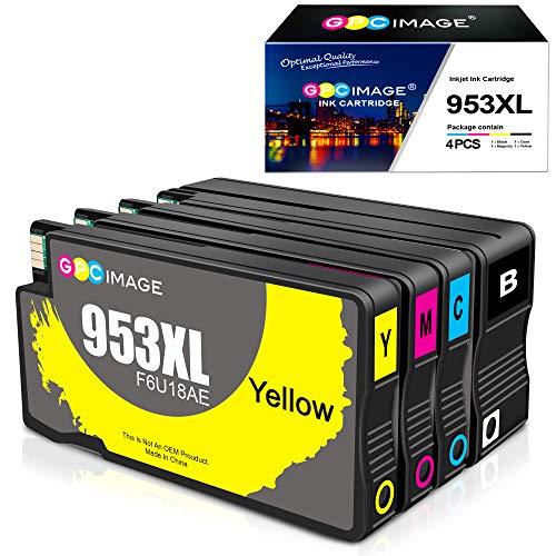 GPC Image 953XL-Neueste Update Chip Kompatibel Druckerpatronen Ersatz für HP 953 XL für HP Officejet Pro 7740 8710 8715 8718 8719 8720 8725 8730 8740 8218 (4 Pack)