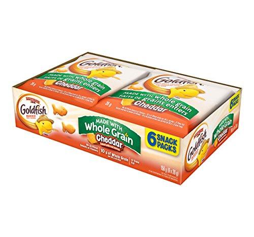 Pepperidge Farm Goldfish Whole Grain Crackers Snack Pack, 26g (Pack of 6)