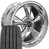 OE Wheels LLC 17 Inch Fit Ford Mustang Bullitt Style Chrome 17x9 Rims Toyo Proxes Sport All Season Tires SET