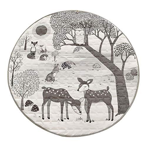 cici store Tapete redondo para brincar para bebês, 95 cm de diâmetro, manta para engatinhar, tapete para decoração