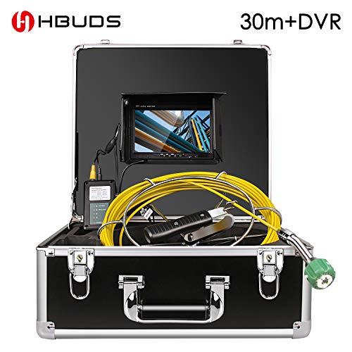 HBUDS Canal de agua tubo de cámara de inspección endoscopio impermeable de Residuos IndustrialesDVR mit 30M