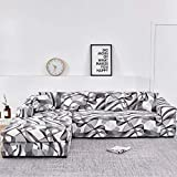 WXQY Chaise Longue Funda para sofá de Sala de Estar, en Forma de L Necesita Comprar 2 Juegos, Funda de sofá elástica Funda de sofá de Esquina en Forma de L A5 4 plazas