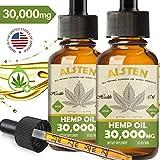 TOPNaturePlus 30000MG Hemp Oil for Pain Relief, Stress, Anxiety and Sleep-  2 Pack Hemp Oil Drops