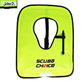 Scuba Choice Adult Neon Yellow Snorkel Vest with Name Box, Large