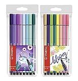 STABILO Pen 68 Living Colors - Rotuladores (punta media, 8 unidades)