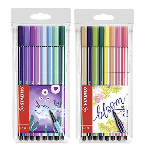 STABILO Pen 68 Living Colors Filzstifte, mittlere Spitze (16 Stifte)