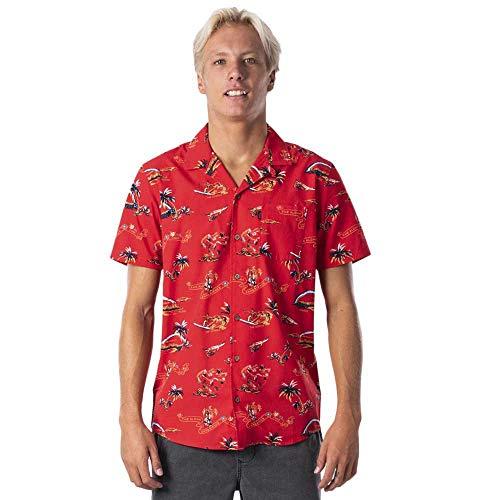 Rip Curl Velzy - Camiseta de manga corta, color rojo Rojo Ro