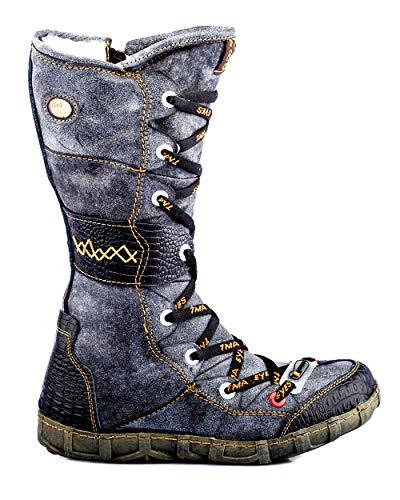 TMA 2088 Damen Stiefel Leder gefüttert schwarz - EUR 36