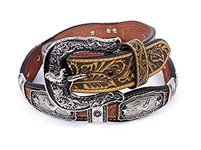 Mens Womens Western Cowboy Cowgirl Gold Prayman Ring Concho Longhorn Horse Prayer Bull Rider Rooster Star Shiny Leather Belt 803E Rooster BR M