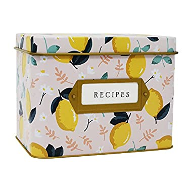 "Jot & Mark Decorative Tin for Recipe Cards | Holds Hundreds of 4"" x 6"" Cards"