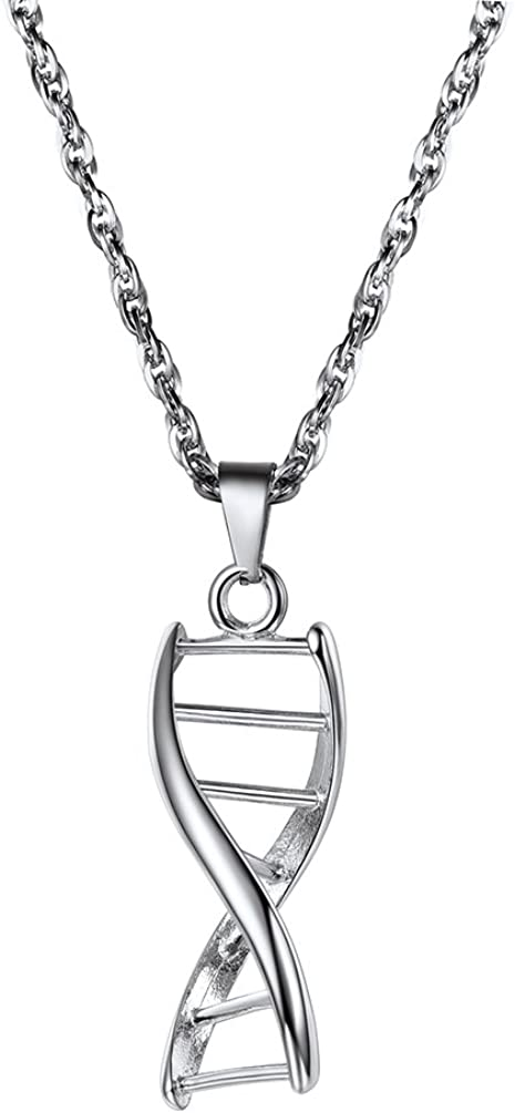 PROSTEEL DNA Pendant Necklace Scientist Biology Charm Chemistry Gift for Him/Her, Come Gift Box