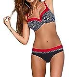 Bikinis Lunares Mujer Trajes de Baño con Relleno Push-Up,Conjunto de Acolchado Bra Tops y Braguitas 2 Piezas Bikini Sets con Punto