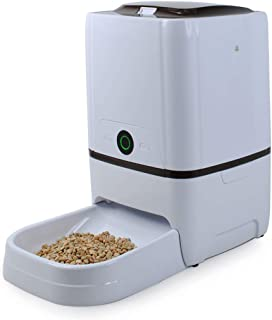 WESTLINK 6L Automatic Pet Feeder Food Dispenser for Large Small Dogs and Cats WiFi APP Portion Control, Voice Recorder, Pr...
