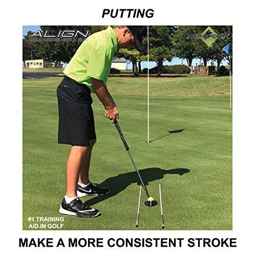 MVP Sport Golf Alignment Rods (MorodZ) Training Aid 2-Pack (White)