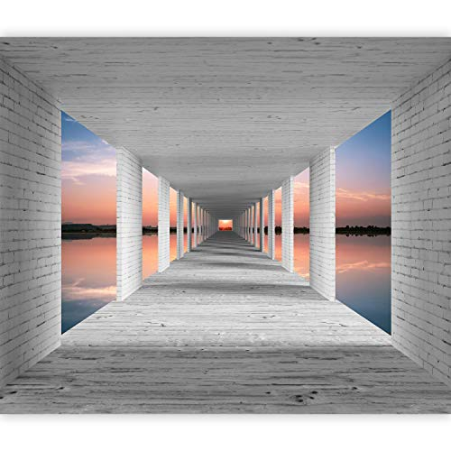 murando Fotomurali adesivi 3D Effetto 392x280 cm carta da parati autoadesiva carta da parati moderna fotomurale carte da parati Spiaggia Mare Cielo n-A-1037-a-a
