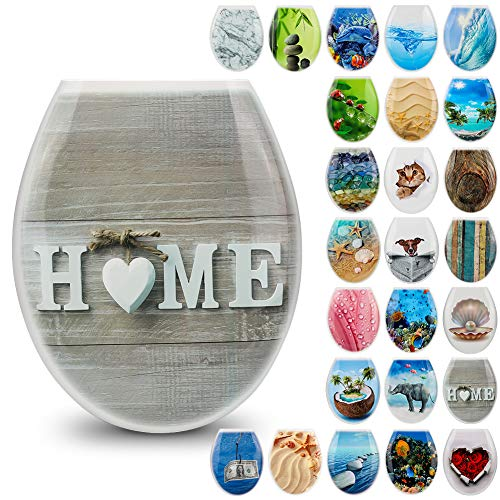 JOTOM Toilet Seats High Quality Toilet Seat Easy to Mount Wide Choice of Beautiful Patterns Toilet Seats for Bathroom Decor (Home)