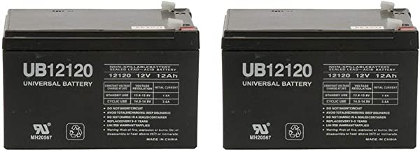 12V 12Ah REPLACEMENT BATTERY for APC SMART-UPS 1000 SUA1000, BP1001i - 2 Pack