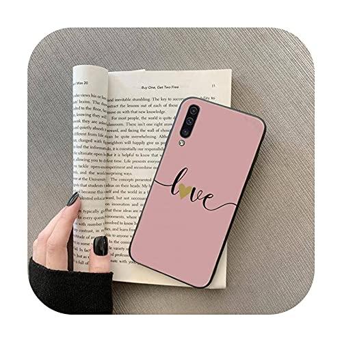 Love Heart - Carcasa para Samsung Galaxy M10 20 30 A 40 50 70 71 6S A2 A6 A9 2018 J7 Core Plus Star S10 5G C8-a12-S10-5G