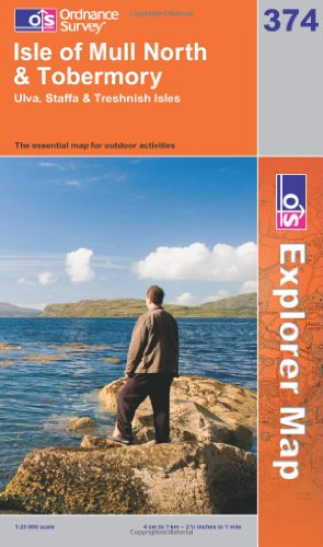 OS Explorer map 374 : Isle of Mull North & Tobermory