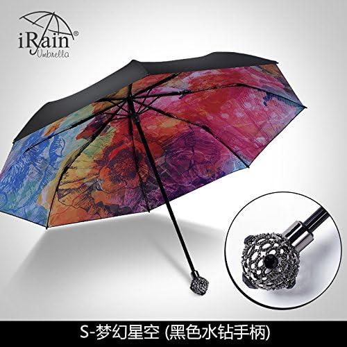YFF@ILU Parasols cadeau d'amoureux de femme UV pliage parapluie baromètre deux hommes avec D