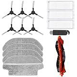 Filtrar Cepillo Paño Piezas de Repuesto Accesorios Conjunto por Aspirador Robot Xiaomi Mi Robot Vacuum Mop Pro (15 Piezas)