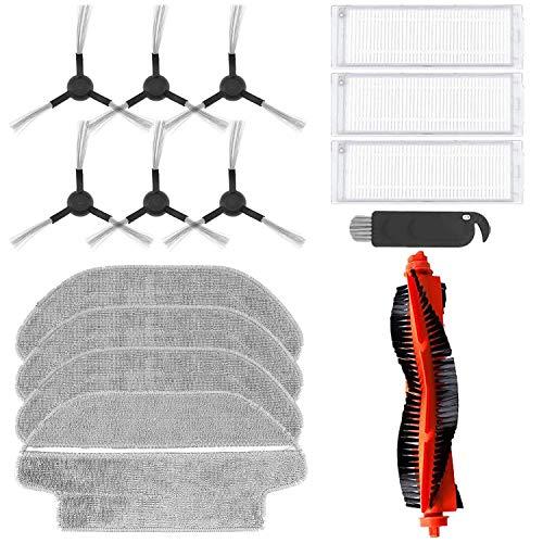 HALIEVE Filter Bürste Wischtuch Ersatzteile Zubehör Set für Xiaomi Mi Robot Vacuum Mop Pro Saugroboter Roboter (15 Stück)