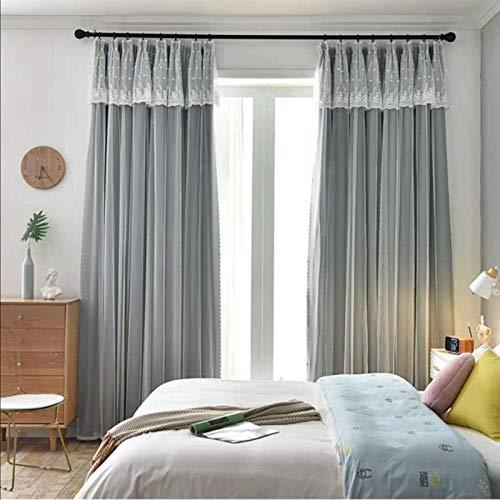Bolo Cortina de ducha extra larga con forro de cortina de ducha hecha de 104% fibra de poliéster, ancho 1.0XL2.7cm