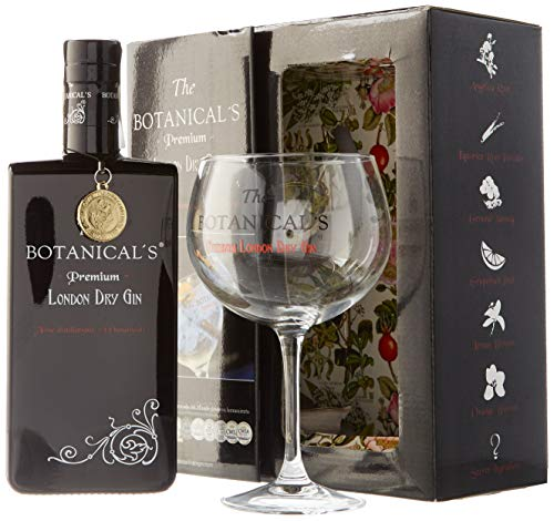The Botanical's - Pack con Ginebra London Dry y Copa Balón, 700 ml