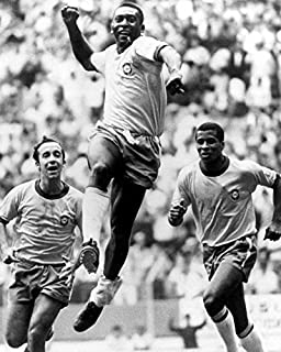 Erthstore 16x20 inch Fine Art Poster of Pele Soccer Legend Scores 1970 World Cup Final Mexico City