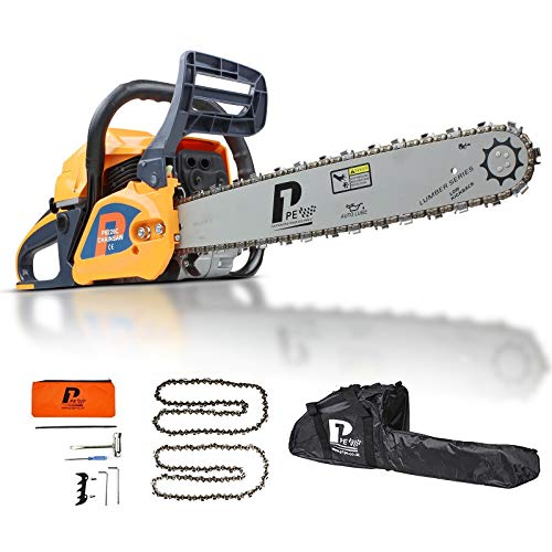 An image of the P1PE P6220C 2-Stroke Petrol Chainsaw Easy Start 20-inch Hyundai Powered 62cc Engine