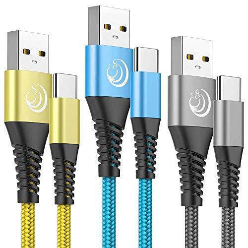 Yosou Cable USB Tipo C 2M,3 Pack Cable USB C Cargador Rápid