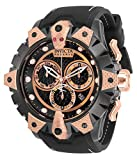 Invicta Men's Reserve Venom Stainless Steel Quartz Watch with Silicone Strap, Black, 26 (Model:...
