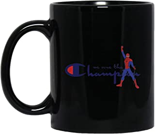 ZEN DEAL - FREDDIE MERCURY SPIDER MAN WE ARE THE CHAMPION 11 oz. Black Mug