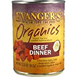 Evanger's Dog & Cat Food Company Organics Beef Dinner for Dogs, 50100, 12-12.8 oz