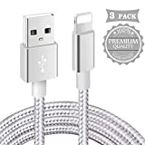 Câble iPhone【Certifié_MFi】3Pack 1m+2m+3m Tressé Nylon Câble pour iPhone 11/XS...