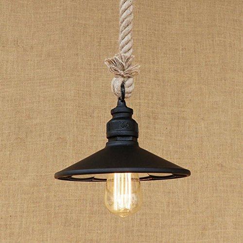 l'american retro industrial lens ombre personnalité pipe corde lustre taille: diamètre pour