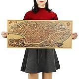 Antike Alte Stadt Karte Alte Rom Poster Kraftpapier Home