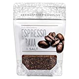 SaltWorks Natural Fusion Espresso Brava Flavored Sea Salt, Artisan Zip-Top Pouch, 3.5 Ounce