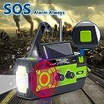 2020 Newest Emergency Crank Radio,4000mAh-Solar Hand Crank Portable AM/FM/NOAA Weather Radio with 1W Flashlight & Motion…