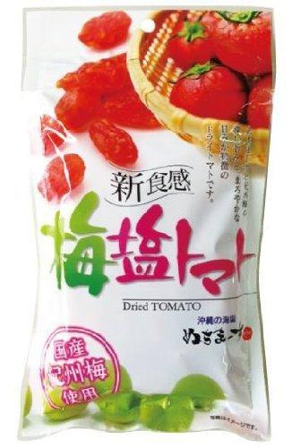 梅塩トマト 30g×2P 沖縄美健 沖縄のミネラルたっぷり塩・ぬちまーすと紀州梅を使用した天然塩まぶしドライトマト 夏バテ防止 熱中症対策に