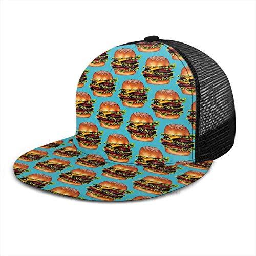 Burger Verstellbarer Cowboy Denim Hut Unisex Hip Hop Baseball Caps Net rot 14397