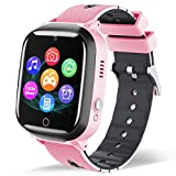 Smart Watch for Kids - Children Smartwatch Boys Girls with 2 Way Phone Calls 7 Intelligent Games Music MP3 Player HD Selfie Camera Calculator Alarm Timer 12/24 Hours for 4-12 Years Old Students (Pink)