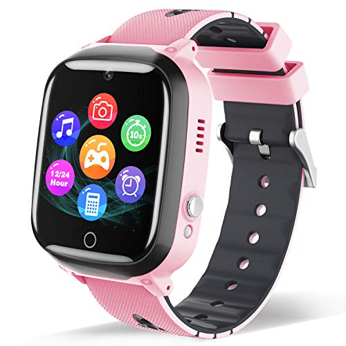 Smart Watch for Kids - Children Smartwatch Boys Girls with 7 Intelligent Games Music MP3 Player HD Selfie Camera Calculator Alarms Timer 12/24 Hours Customized Wall Paper for 4-12 Years Old Students